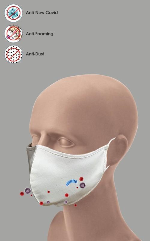 10 Stück Mundschutz 2-lagig Maske 100% Baumwolle waschbar