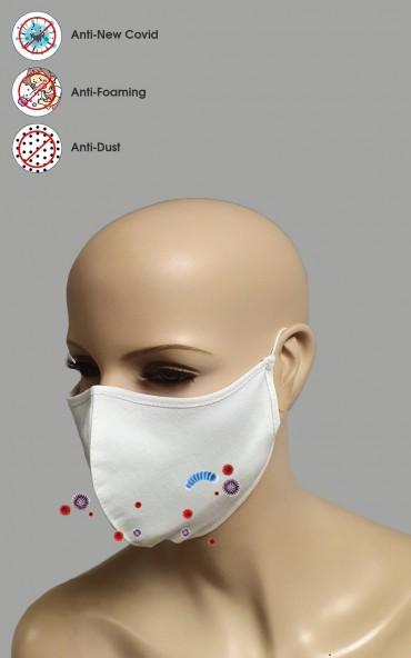 50 Stück Mundschutz 2-lagig Maske 100% Baumwolle waschbar